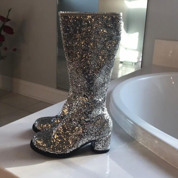 Girls Silver Glitter Gogo Boots | Poshmark